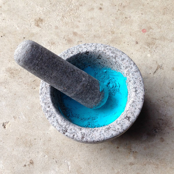 Intense powdered teal