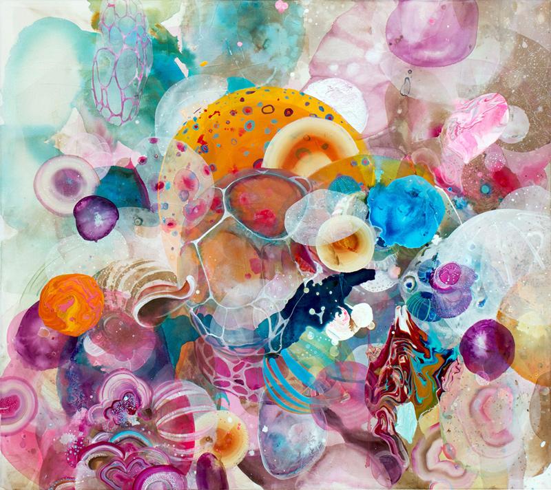 'In a Heartbeat' 140cm x 120cm, Acrylic on canvas. 2014