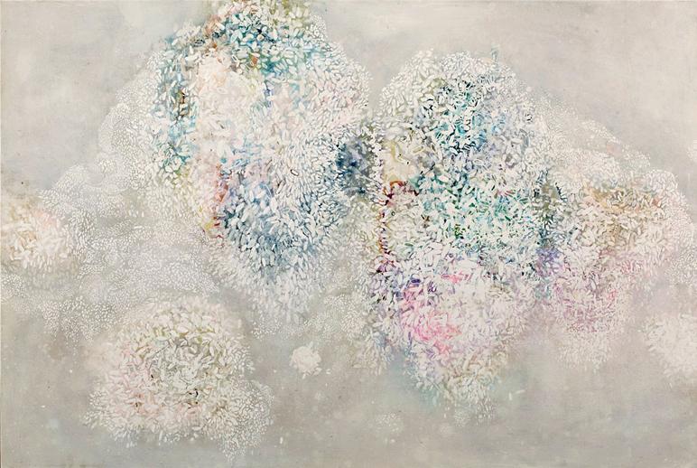 'Sticky-rice Landscape' 110cm x 80cm, Enamel on canvas. 2012