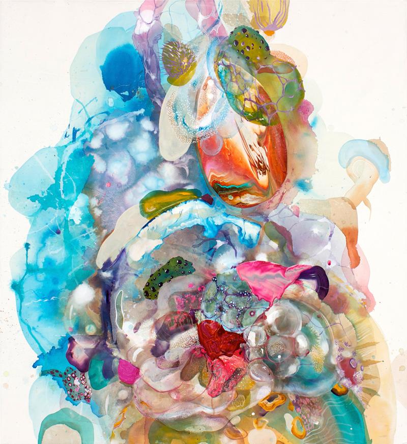 'Plasmonaut' 130cm x 120cm, oil, acrylic and ink on canvas