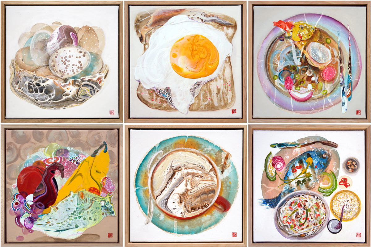 Day 15. 'Basket of Eggs', Day 16. 'Egg on Toast', Day 18. 'Udon', Day 19. 'UnStill Life', Day 20. 'Coffee Break', Day 22. 'Thai Feast'.