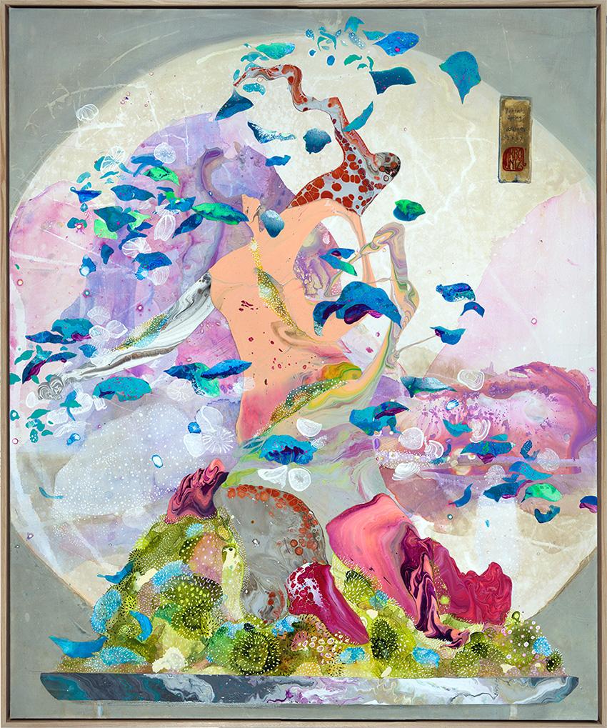'Bonsai: Spring', 100cm x 120cm, Acrylic on canvas