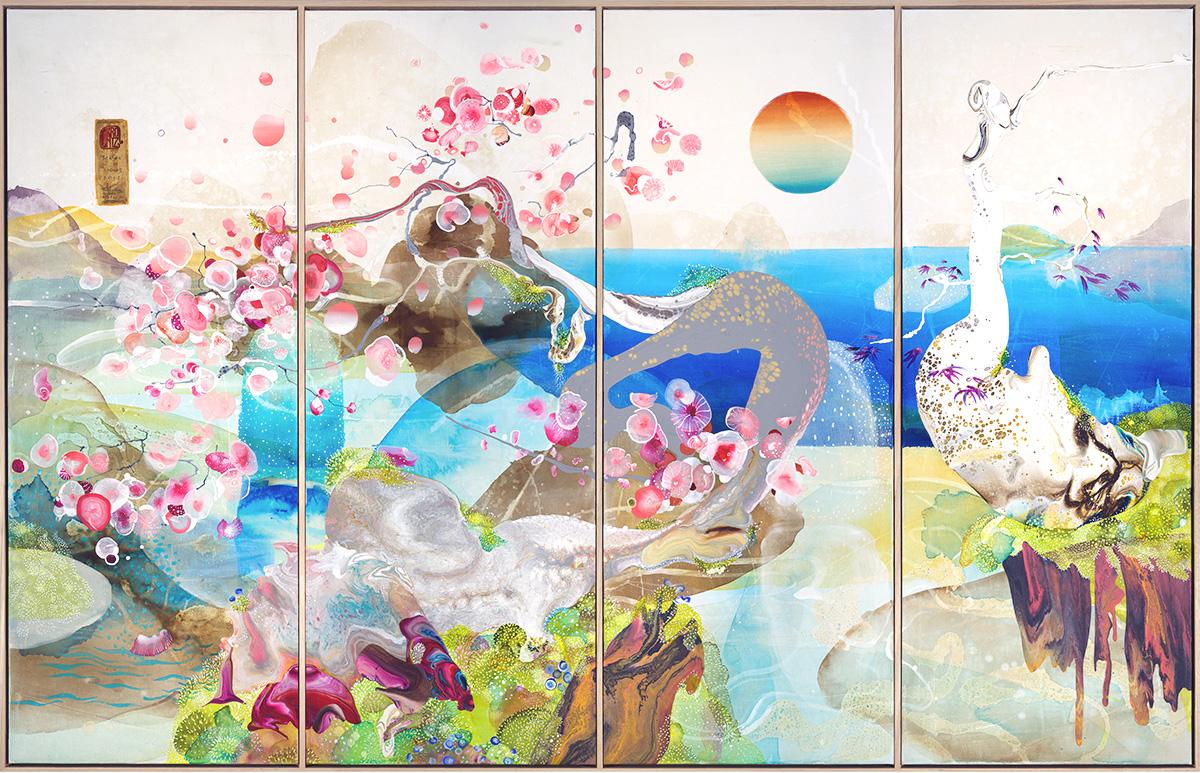 'Sakura', 208cm x 130cm, Acrylic on Canvas
