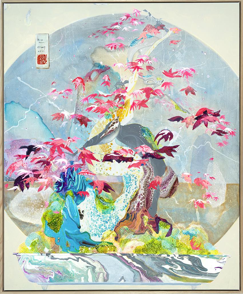 'Bonsai: Autumn', 100cm x 120cm, Acrylic on canvas