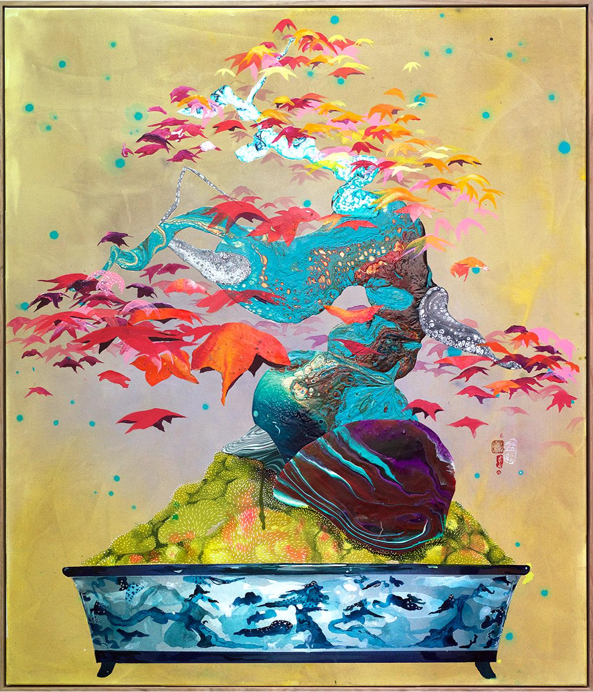 'Japanese Maple in Bespoke Pot' 130cm x 110cm