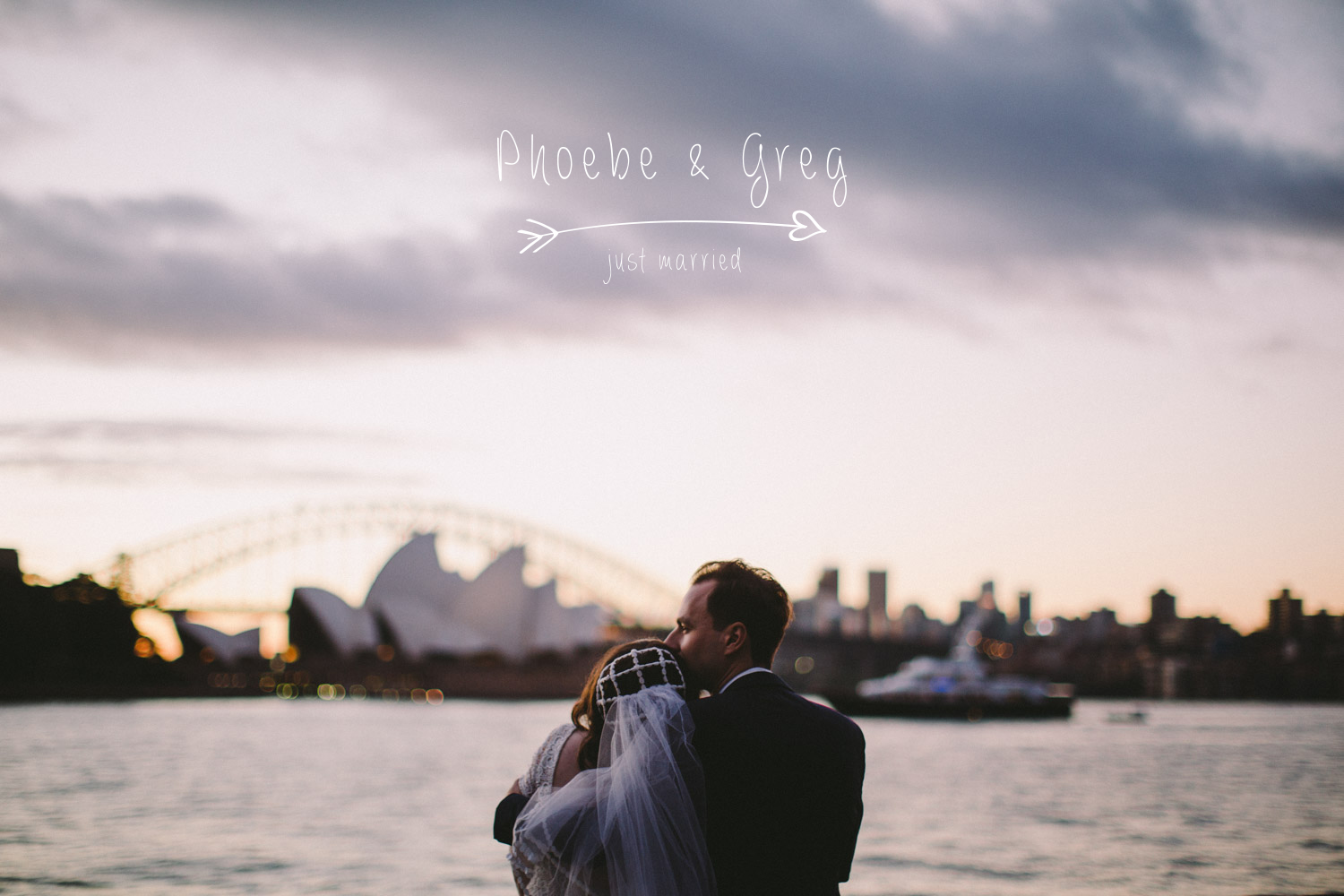 Just married: Phoebe & Gregory overlooking Sydney Harbour
