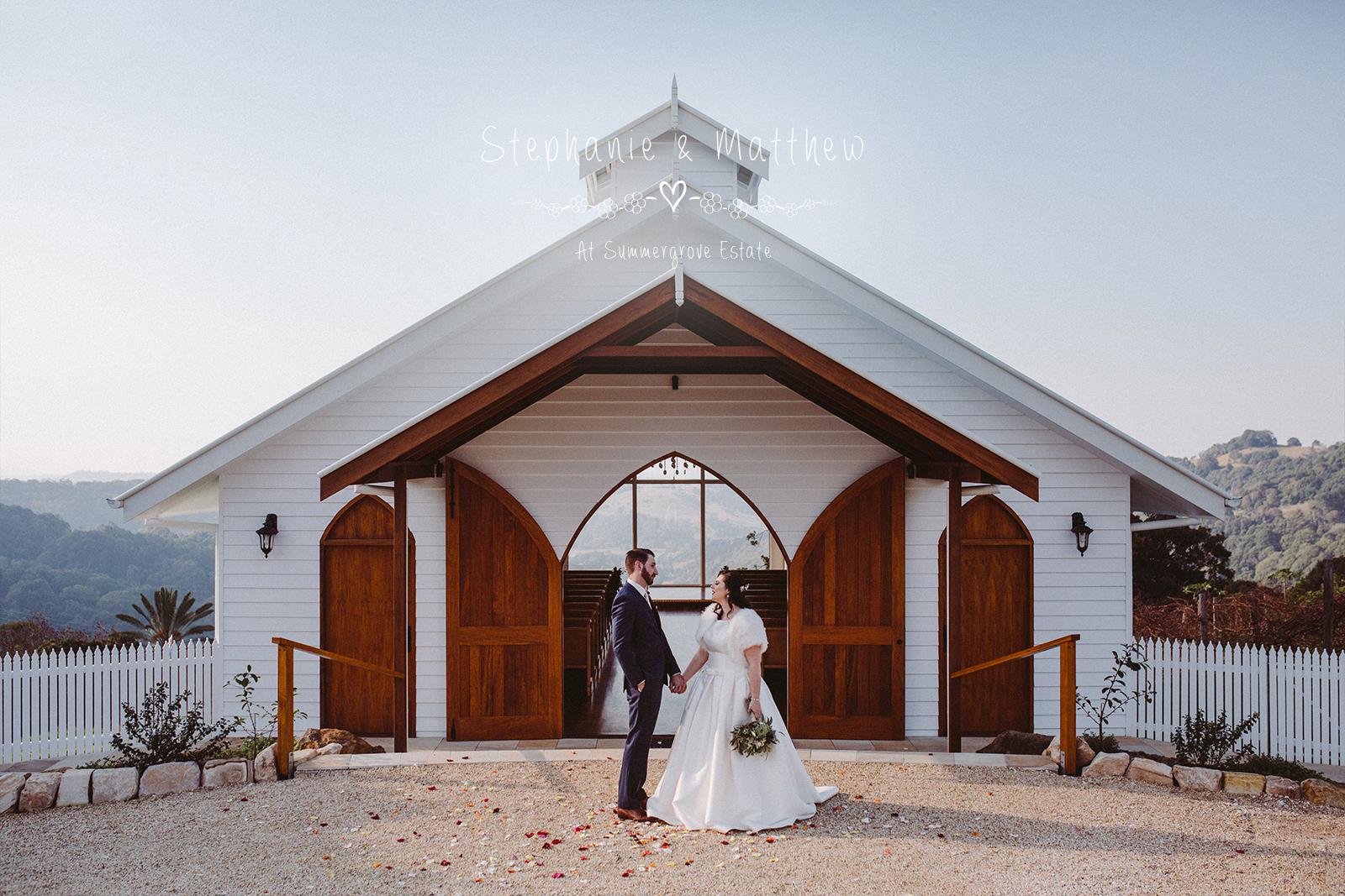 Stephanie & Matthew ~ Married at Summergrove Estate