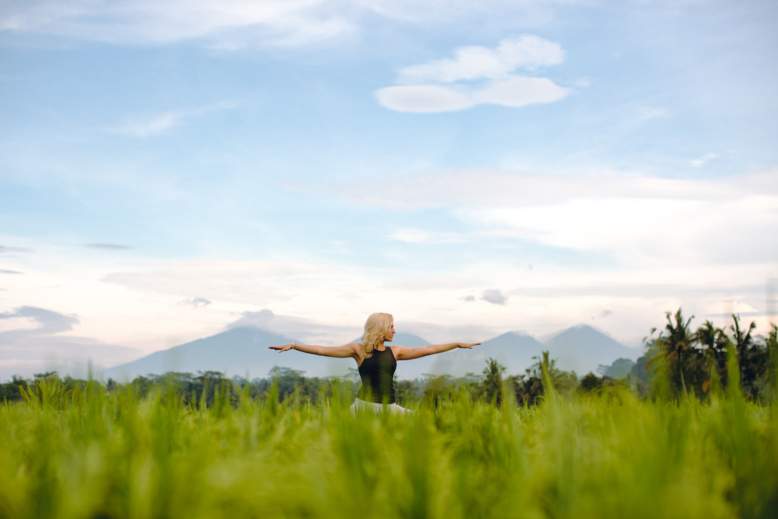 Lara Best, Yoga in Bali rice fields - Ubud, Bali