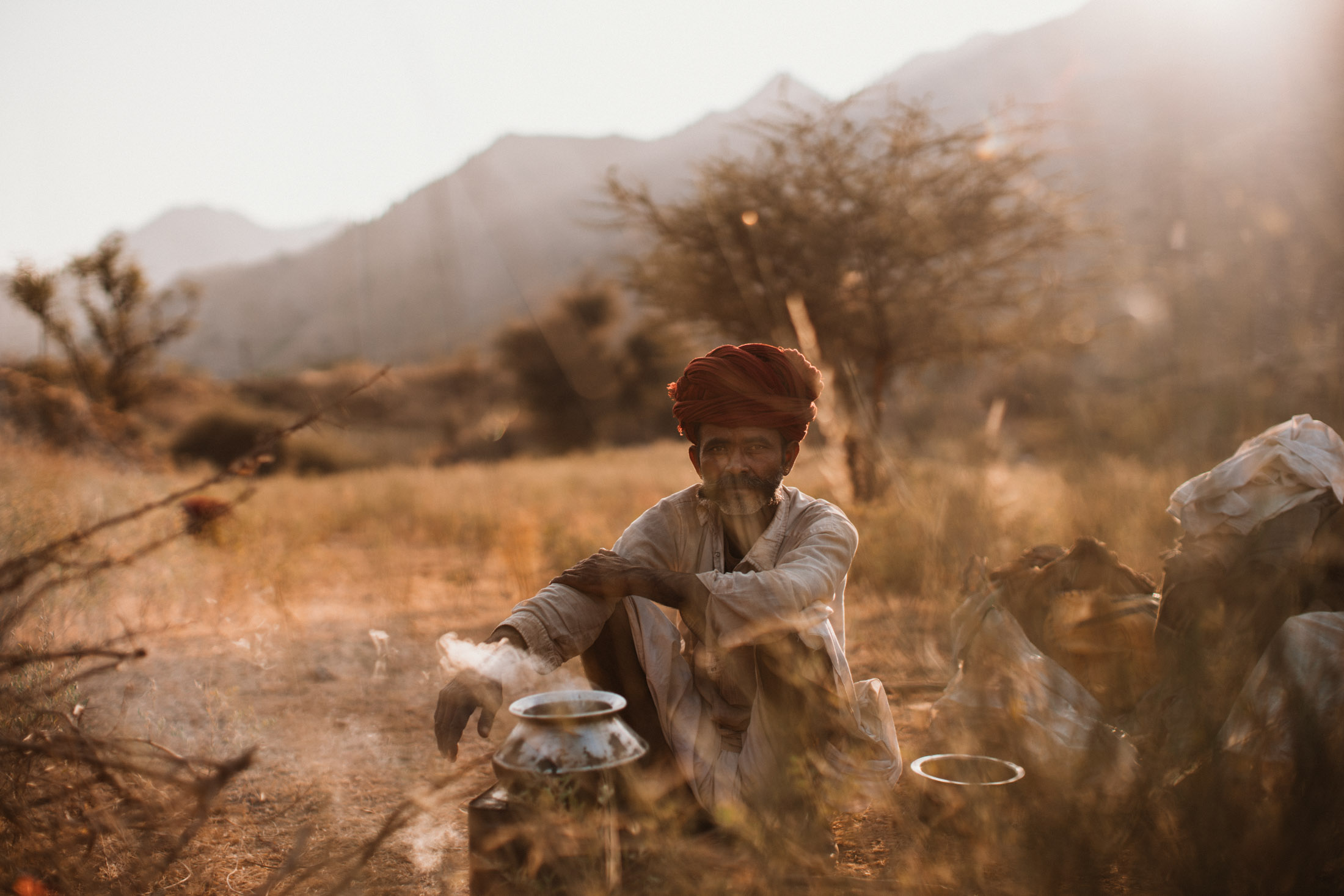 Ganesh - a Goatherd in the rural region near Ajmer, Rajasthan India
