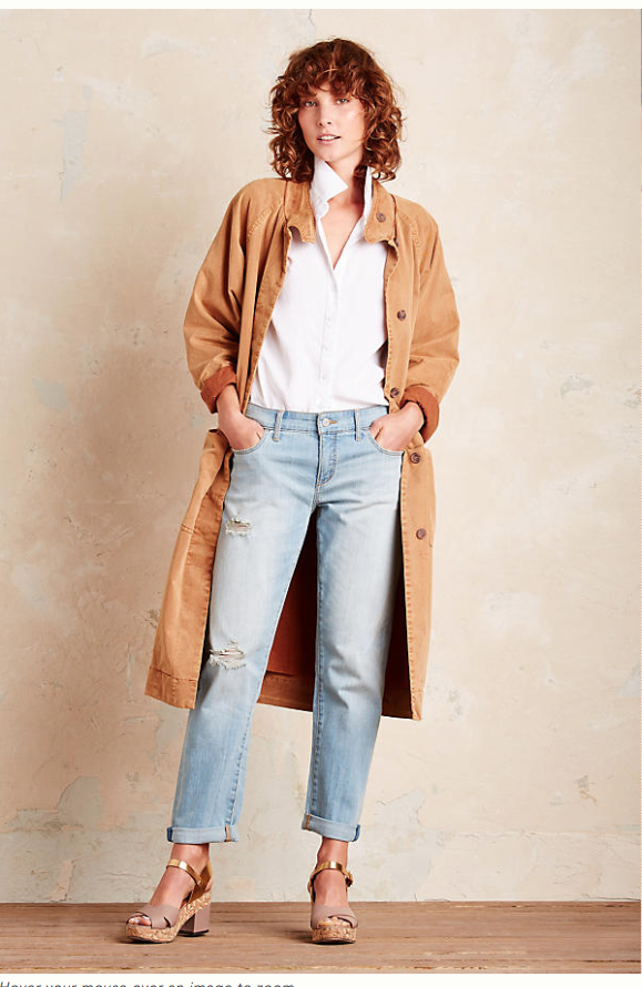 Love the 70's vibe of this  Tan Cotton long loose trench . Upgrade your weekend look now and wear all through from March - October. £97.95 (was £140) or thrown in your suitcase if your off somewhere hot very soon.