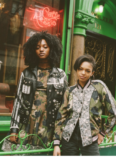 Vogue  reports NYC bloggers in Greenwich Village doing Camo