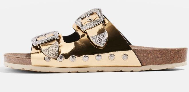 Top Shop metallic sandals £39