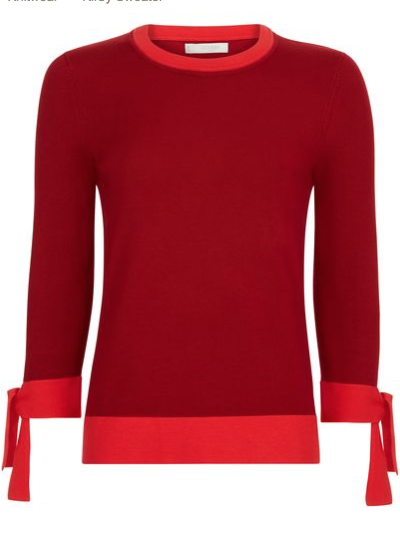 Red Kirby Sweater £89