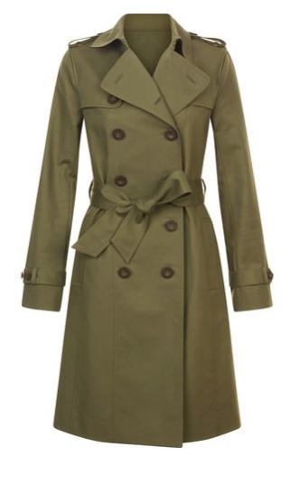 Green Saskia Trench £199