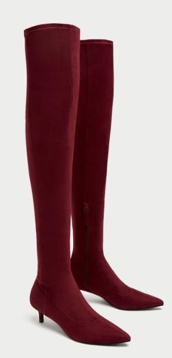 Burgundy, Kitten Heel,  Zara £29.99