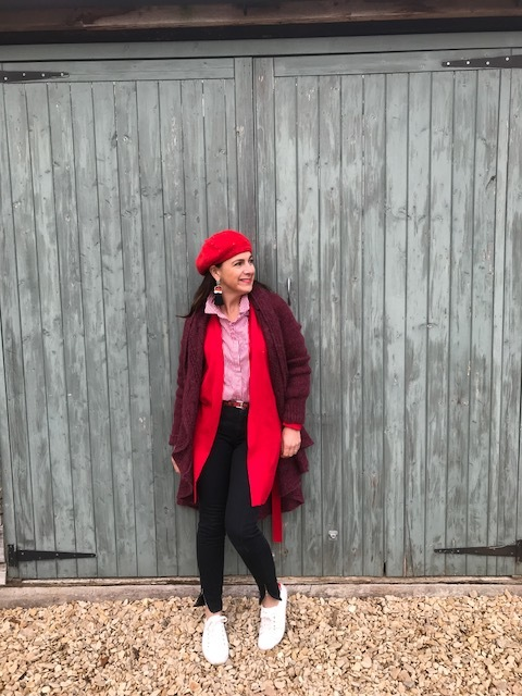 I have always collected Berets from charity shops to vintage market so its a piece I've always worn. This mohair one has sparkles and it was a gift - it comes out every Christmas.