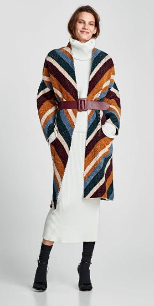 Zara Oversized Jacquard Coat £79.99