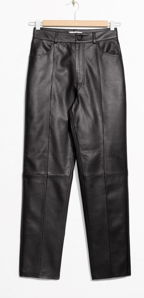 & Other Stories leather trousers £255