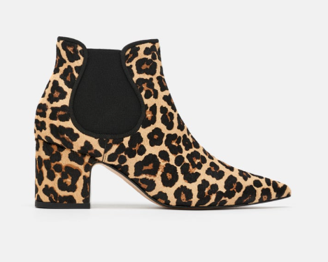 Zara Leather heeled ankle boot £149