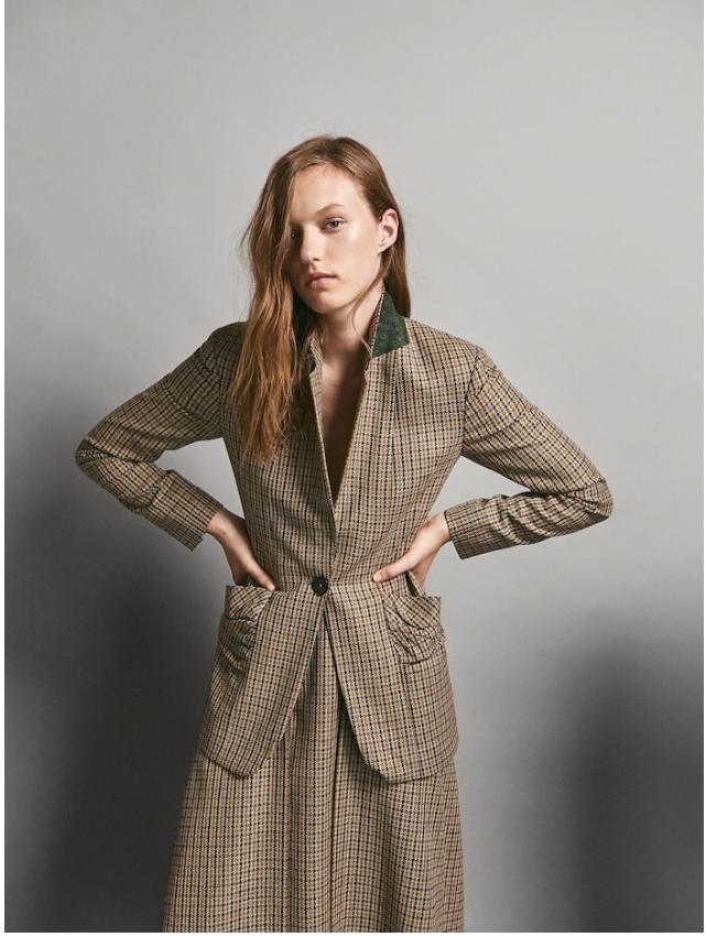 £179 Slim fit checked blazer