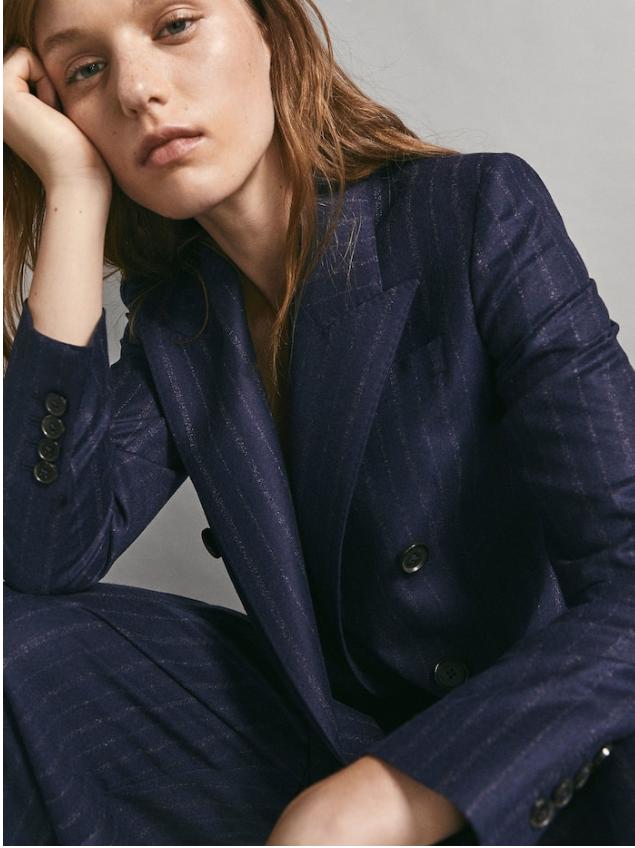 Slim fit pinstripe blazer £179