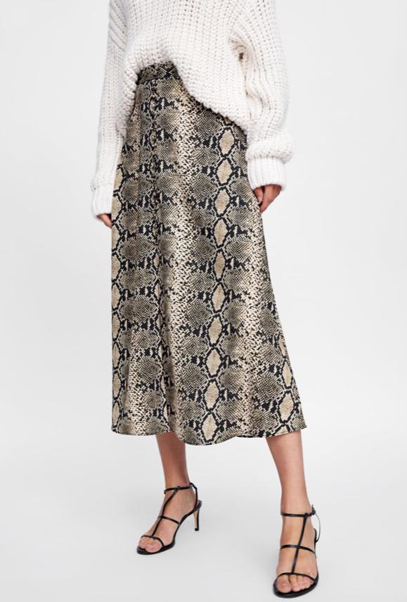 Zara Snake Skin Skirt £29.99