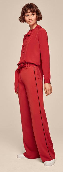 Me & Em wide leg trouser £169    Pussy bow silk blouse £189