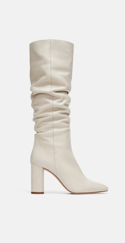 Zara cream boots £119