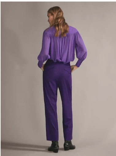 Massimo Dutti Purple wool Trousers £119