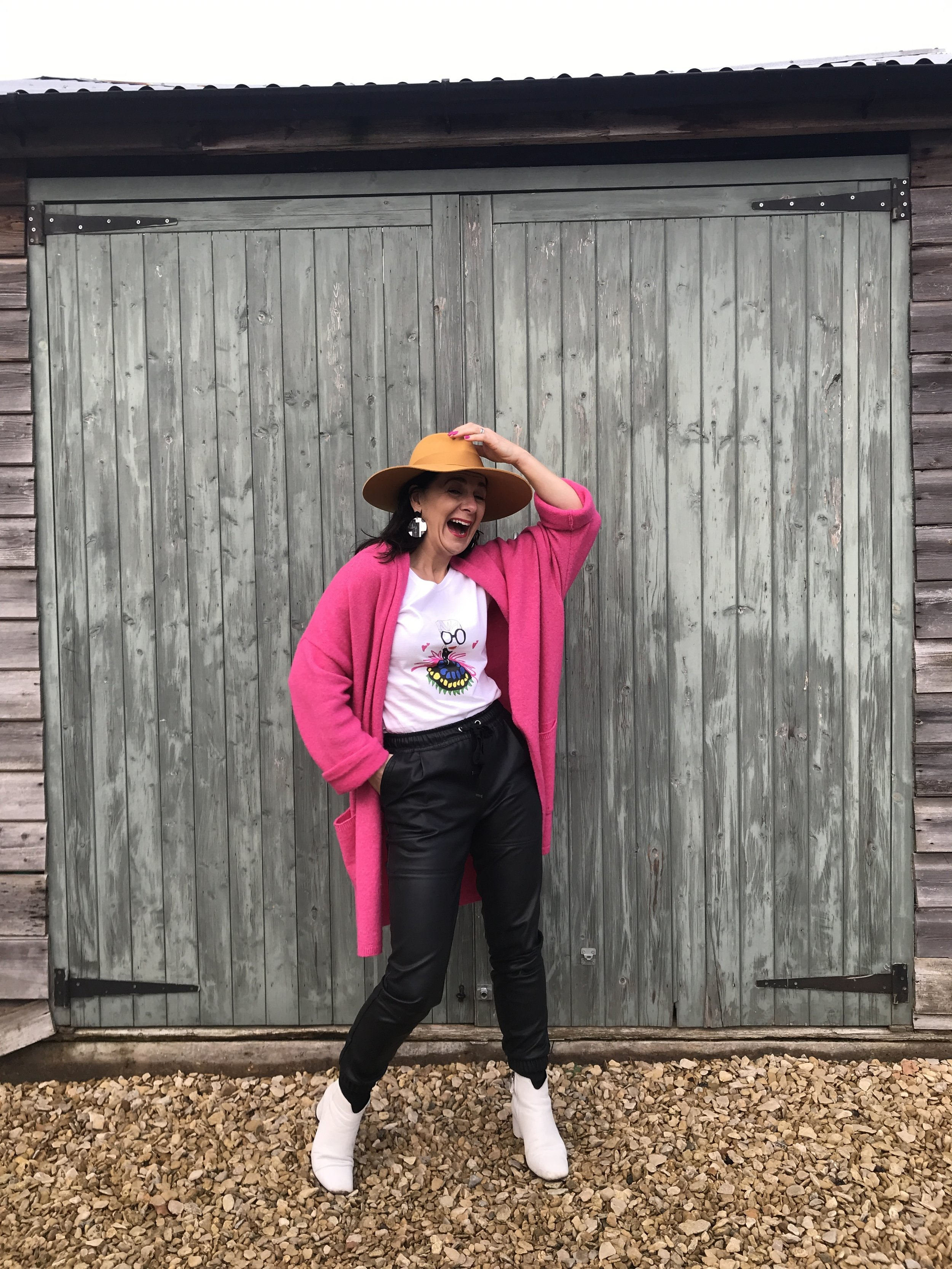 My neon K ettlewell Colours  Wrap and  Gina Potte r T-shirt