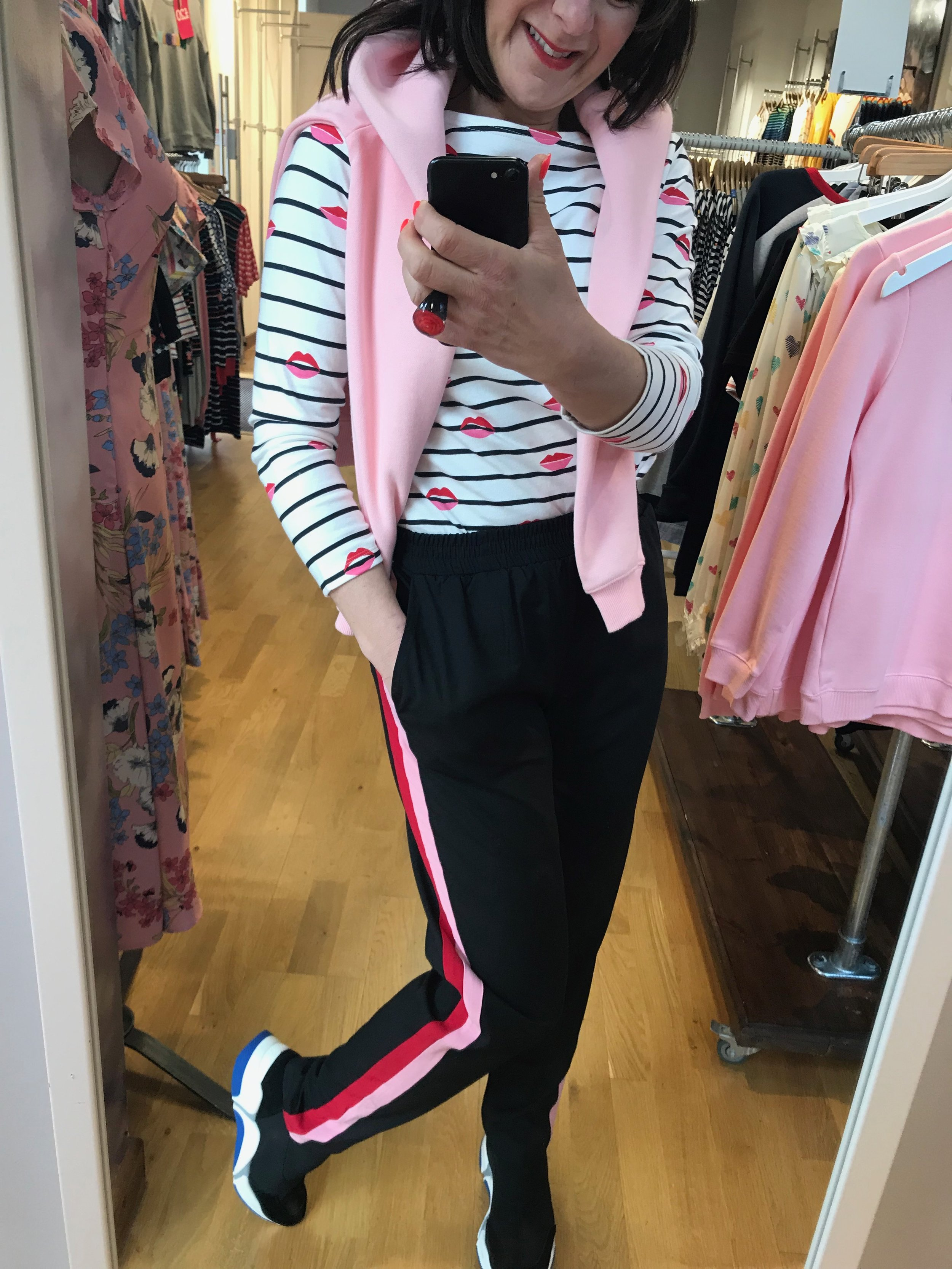 Get Lippy Stripe Top / Superhero Sweatshirt  Trousers