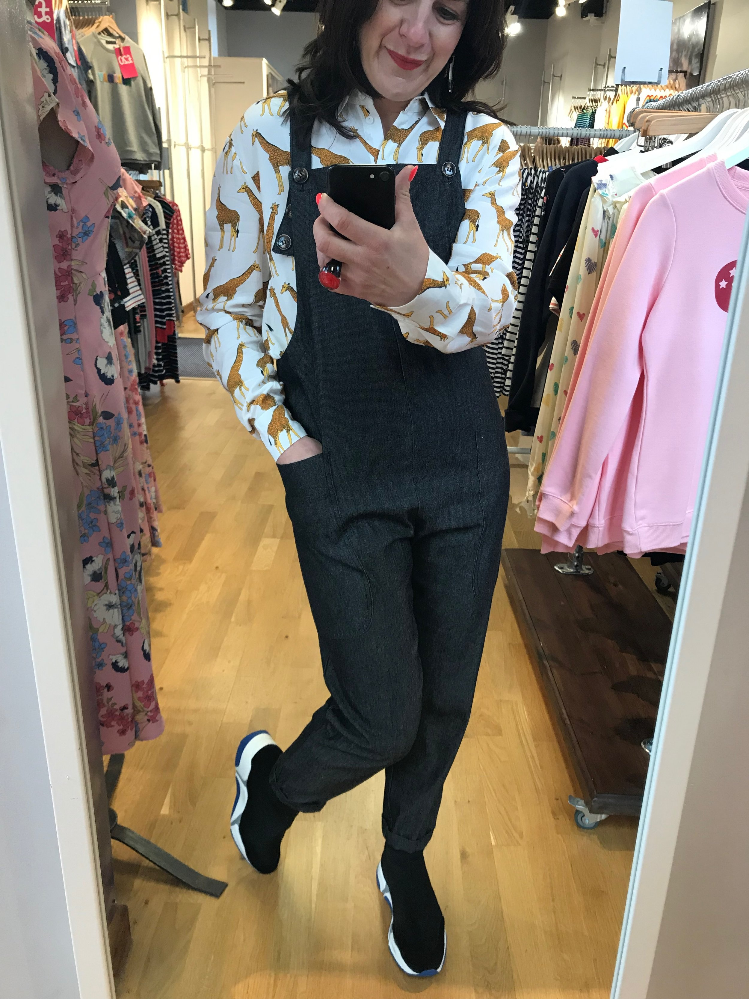 Rowan Apron Dungarees / Giraffe Shirt
