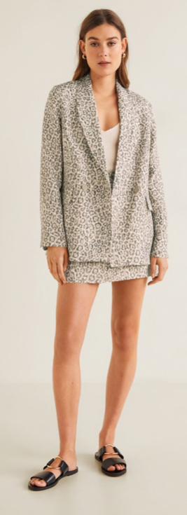 Mango Animal Print Blazer £59.99 & Skirt £25.99