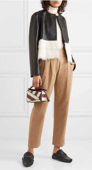 Loewe Shearling collarless jacket £2166