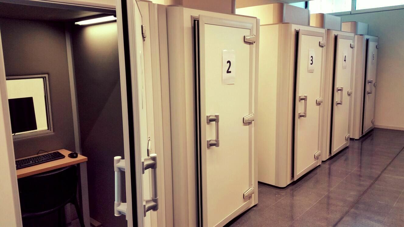 Individual testing cabins, Experimental Psychology Laboratory