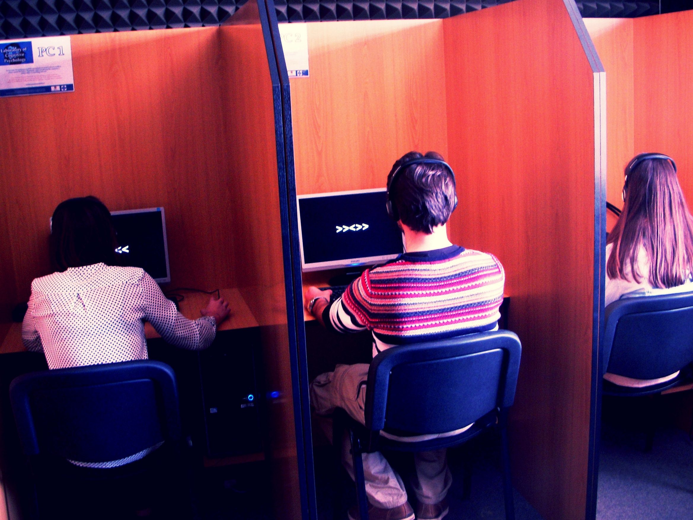 Testing cubicles, Cognitive Psychology Laboratory