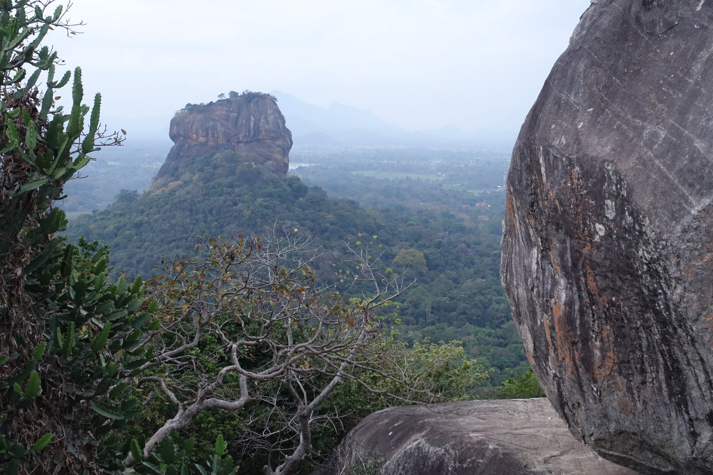 Sigiriya from Pidurangula