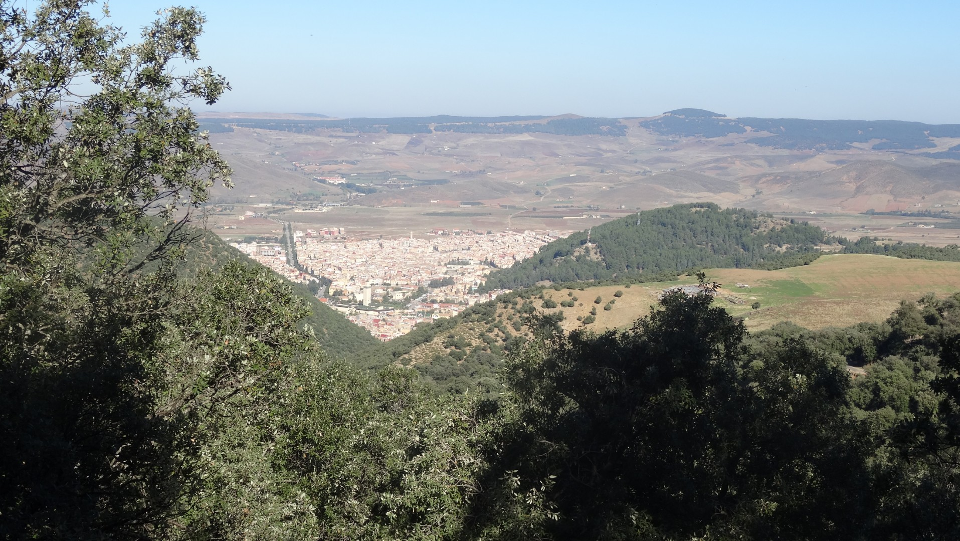 Looking down to Azrou