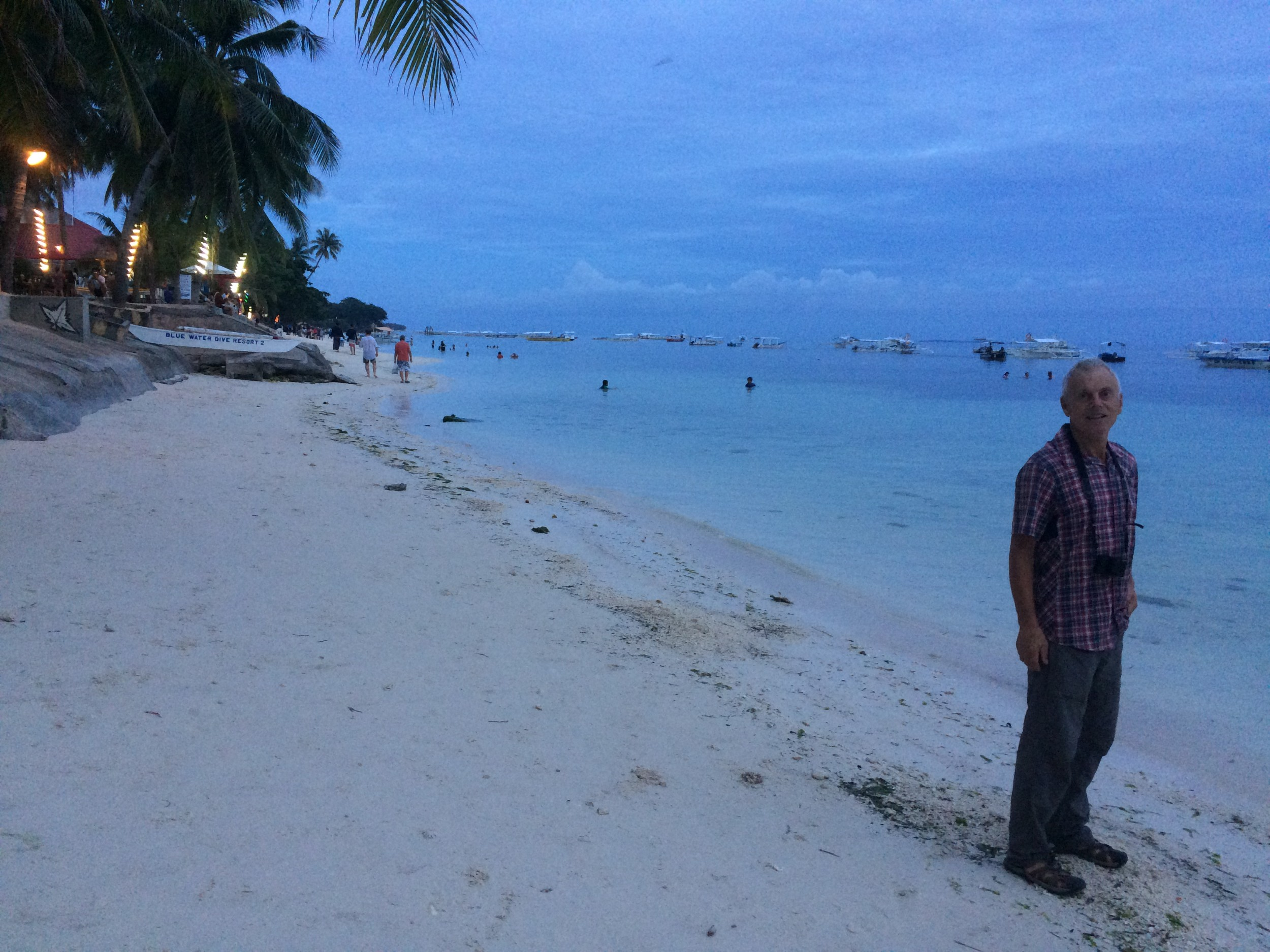 Alona Beach at dusk