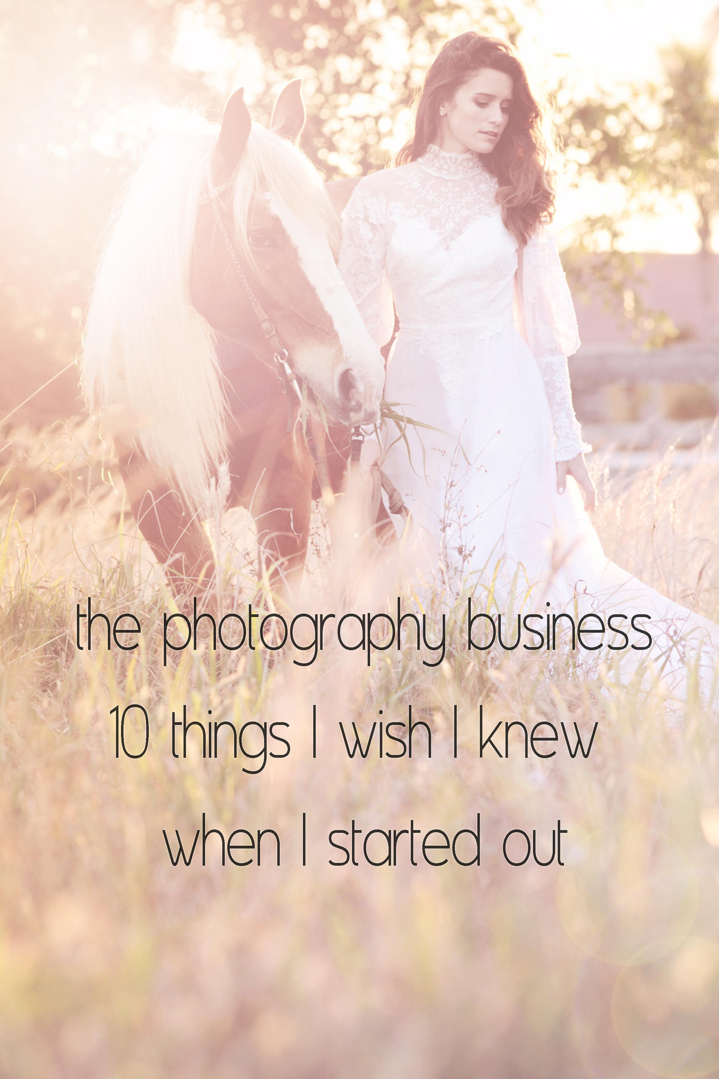 10thingsIwishIknewaboutphotographybusiness