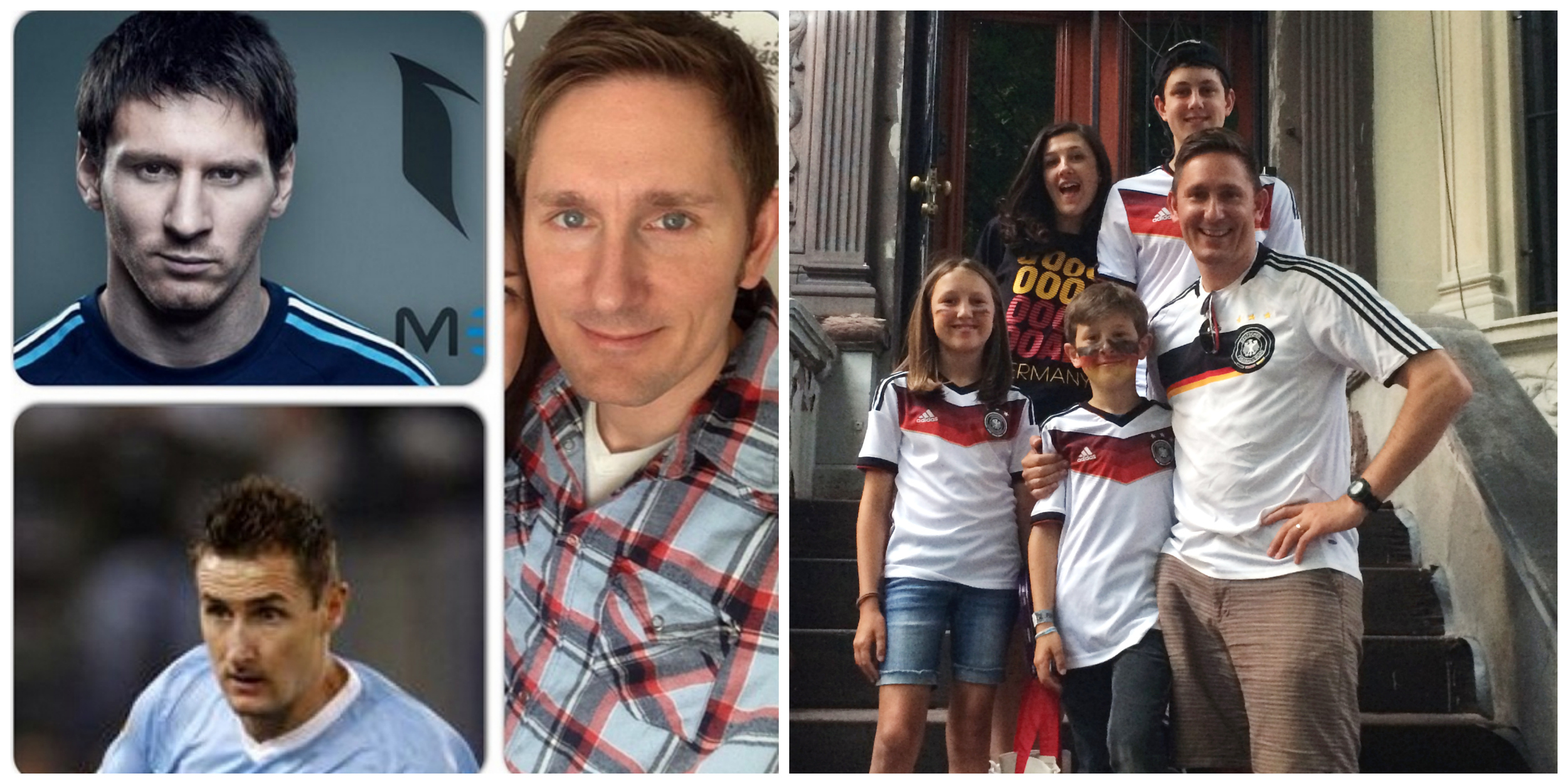 My wife says I'm the love child of Messi and Germany's Klose.                               Harlem didn't know what hit it July 14.