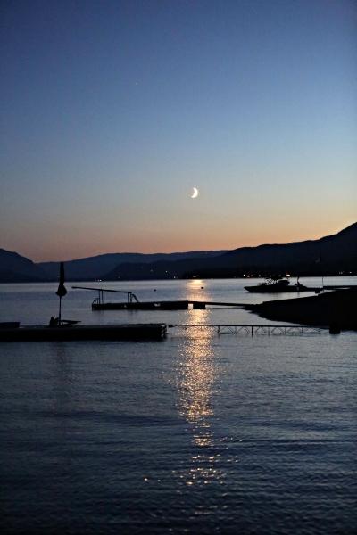 Shuswap Lake by night.
