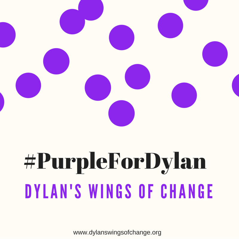 Consider making your own purple dot art and sharing on social media with the hashtag #PurpleForDylan.
