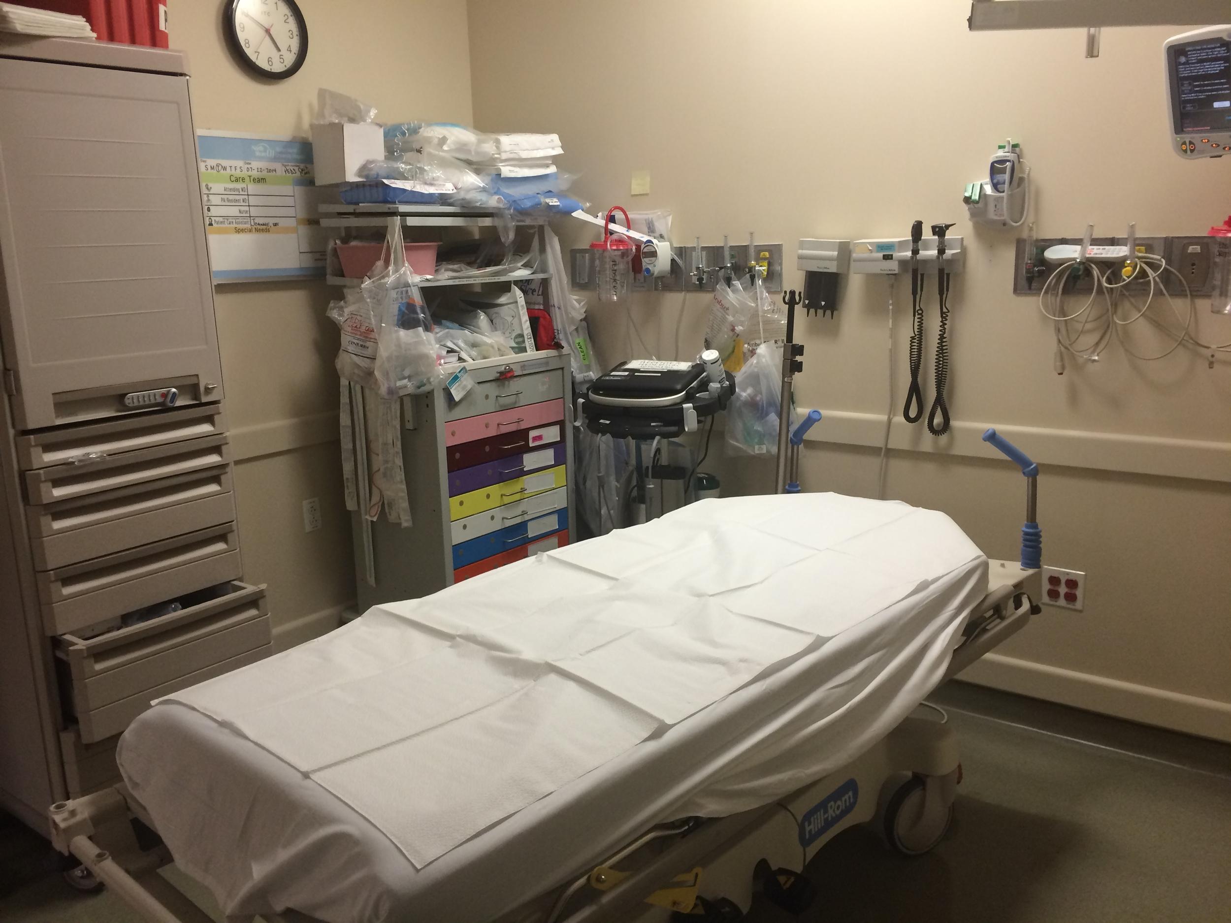 Our pediatric critical care room