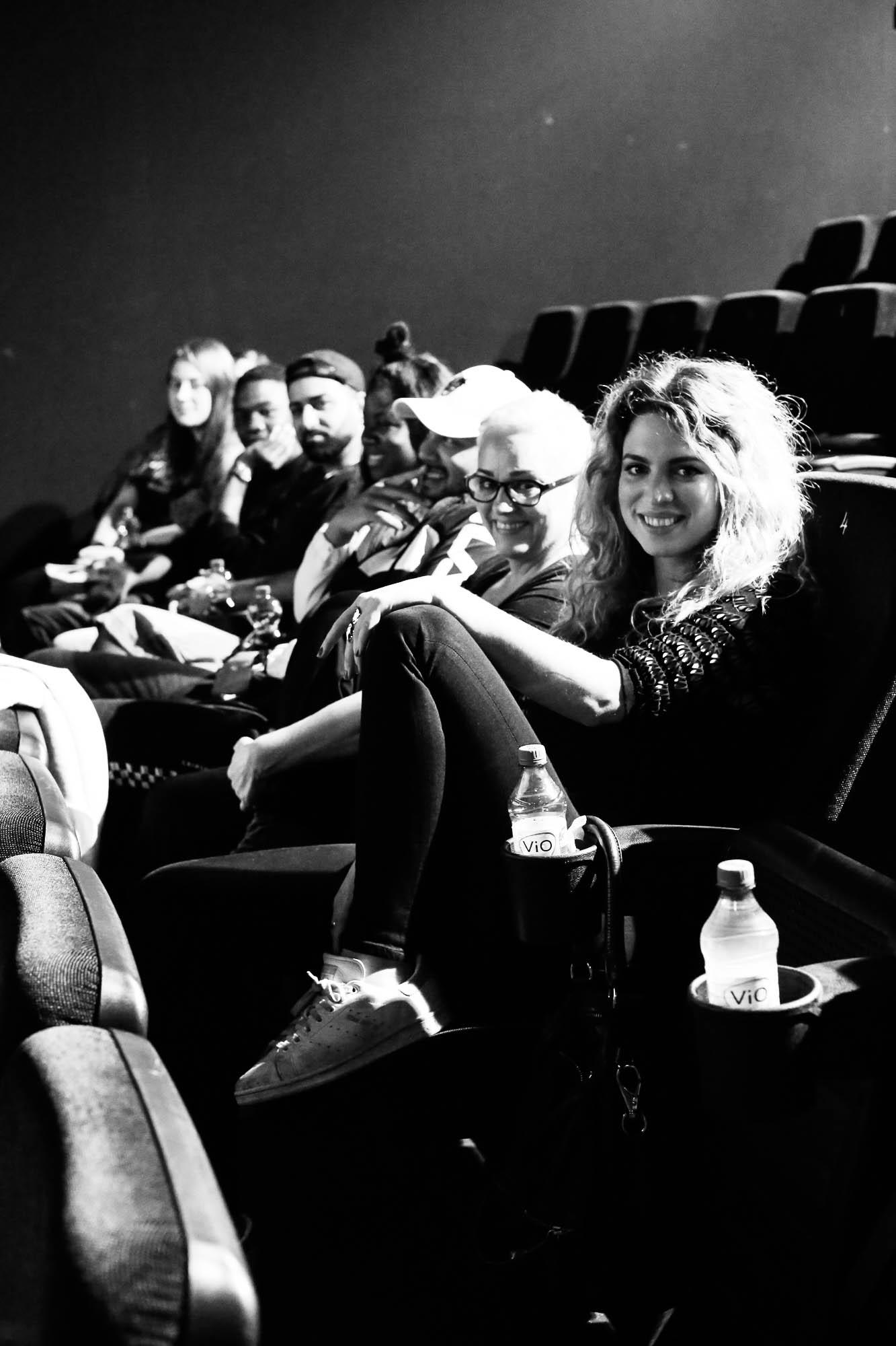 """Die Casting-Jury mit Larissa Kerner (Original Juror """"The Voice""""/NENA), Emily Intsiful (""""The Voice"""" Finalistin), Kelvin Kilonzo (Tanz) und den HipHop-Artists Ceydo&Freeze (Universal/ChapterOne)."""