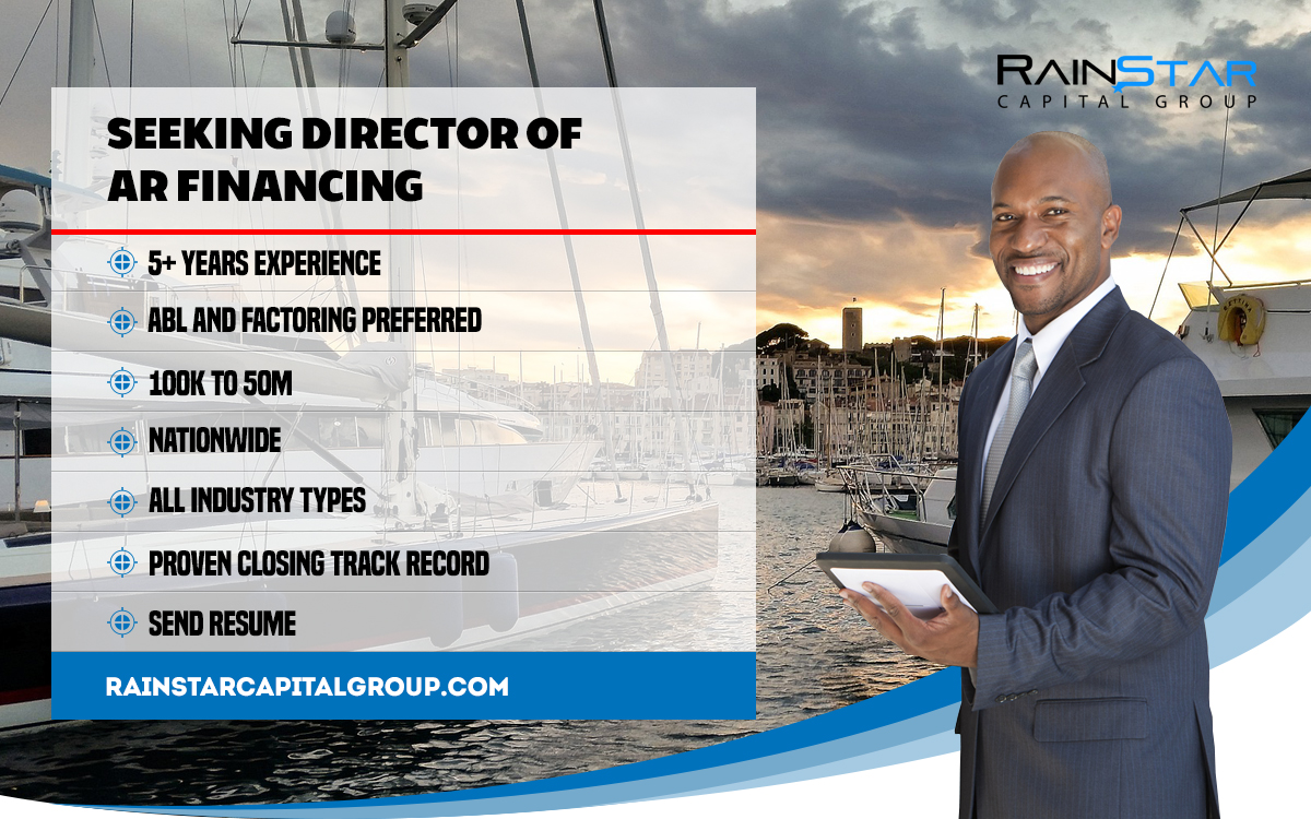 To apply for the Director of Asset Based Lending position please your resume and cover letter to Kurt@rainstarcapitalgroup.com.