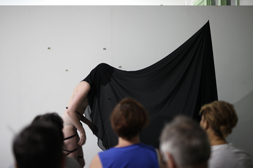 Stage One  - To accept the reality of the loss.   Live performance  Photo by Jessica Eva  Statement;  click here
