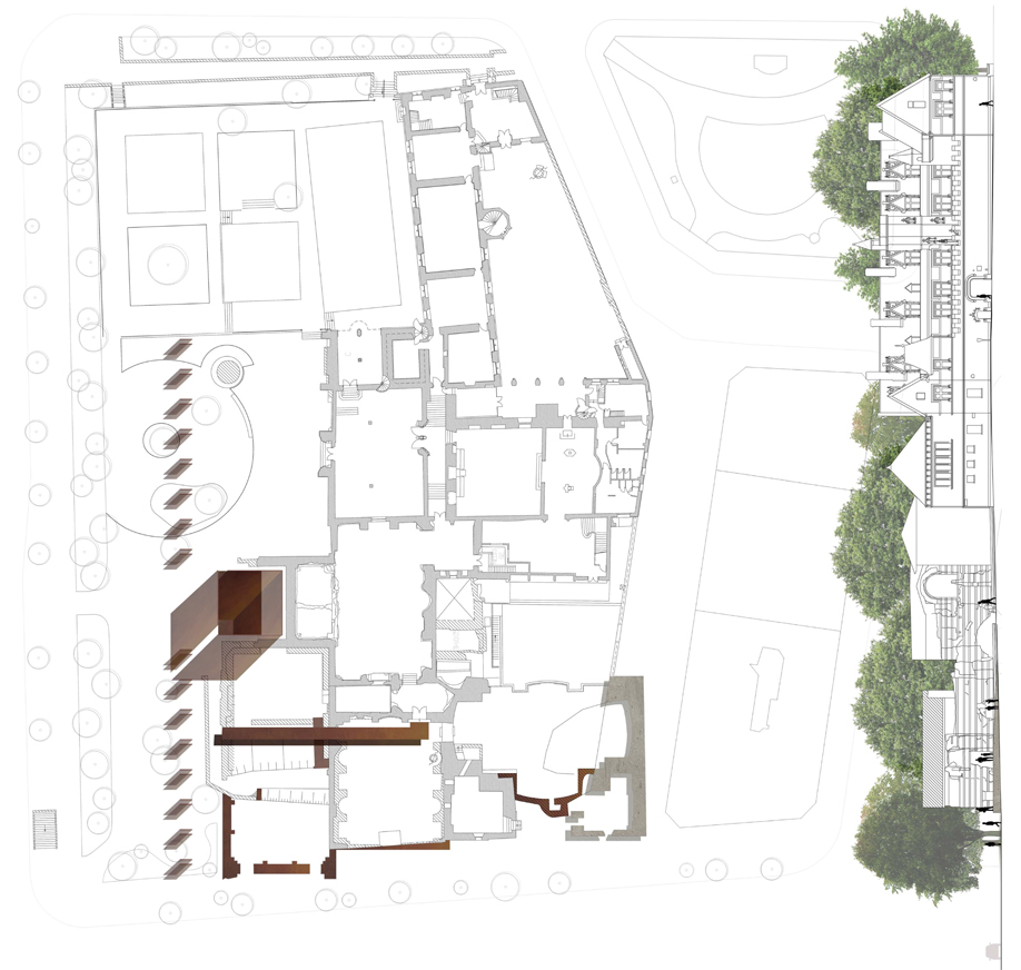 Thermes de Cluny architectural plan by Bolter Design