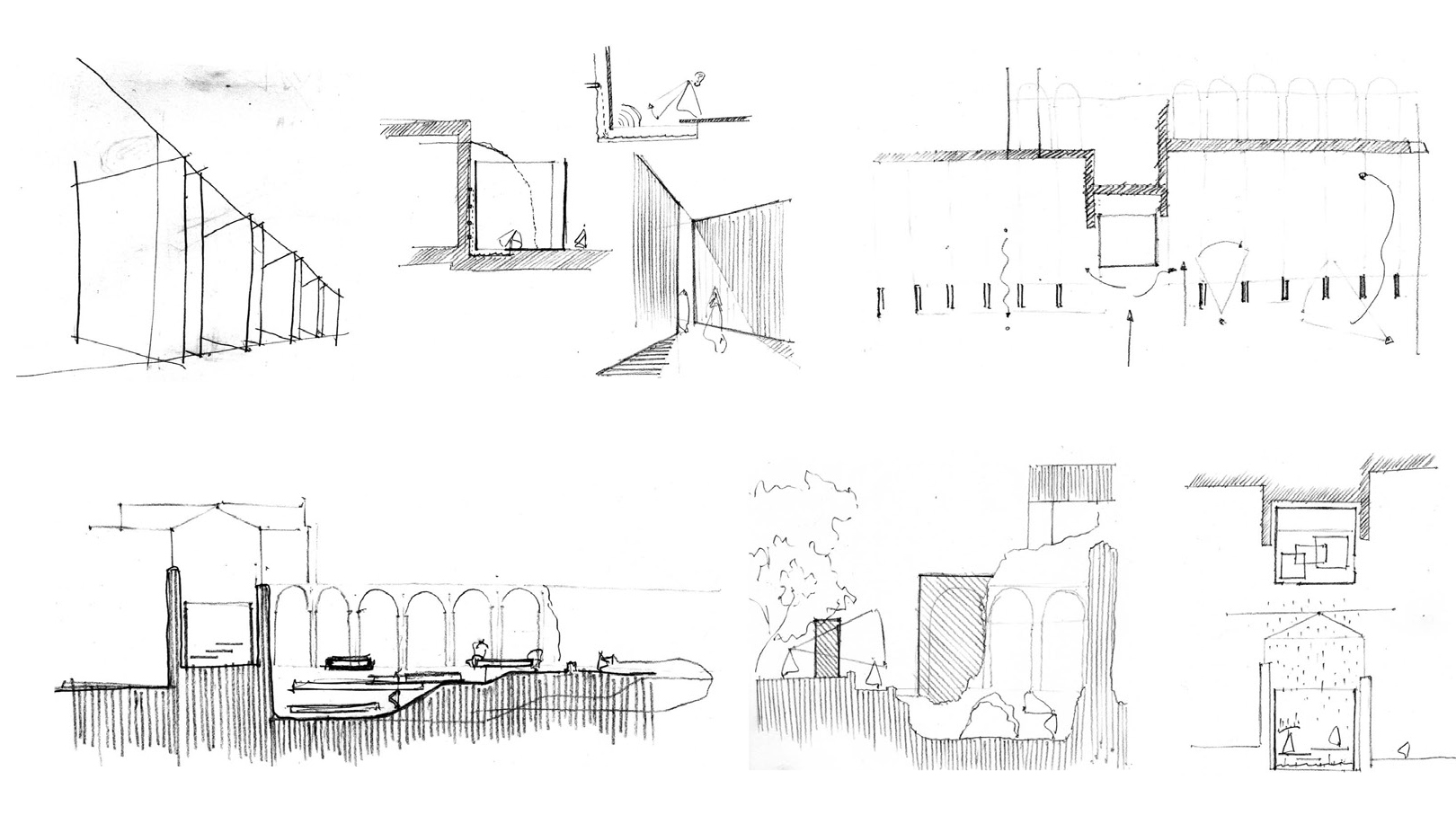 Thermes de Cluny sketch design by Bolter Design