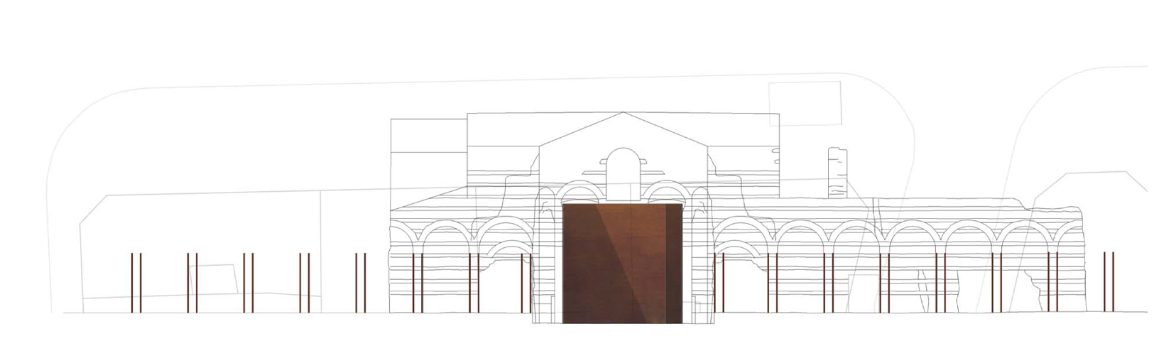Thermes de Cluny architectural drawing by Bolter Design